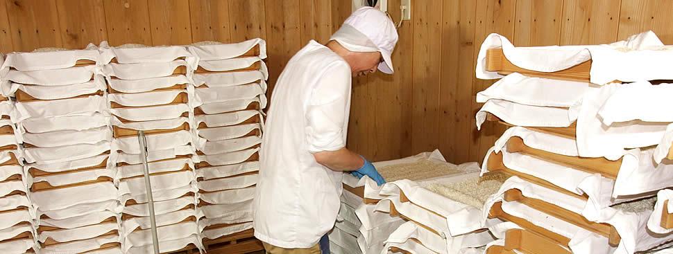 白味噌の麹は手作りするこだわり