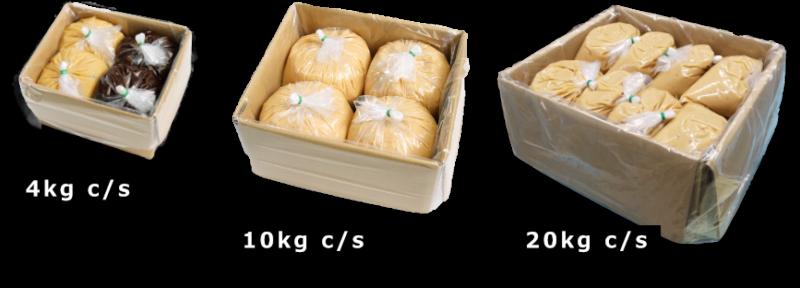 業務用の白味噌、小分け袋の例
